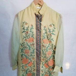 Women's Vintage Alfred Shaneen Silk Shift Dress